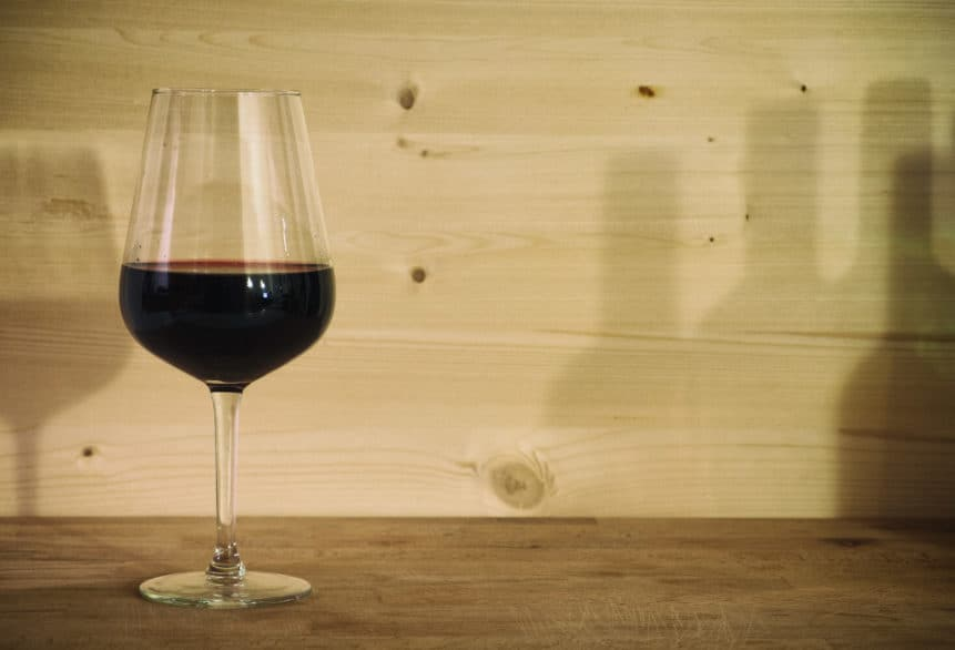 glass of red wine -  -